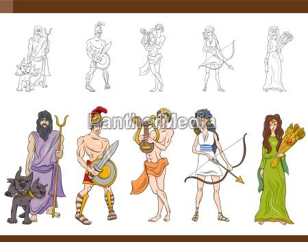 dei greci impostare illustrazione