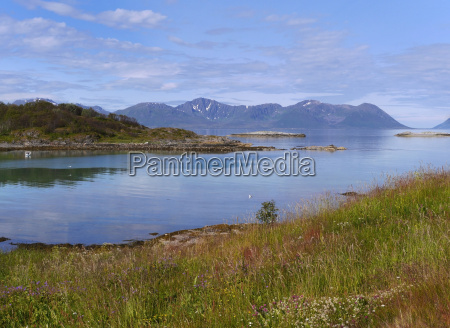 montagne norvegia fiordo norvegia del nord