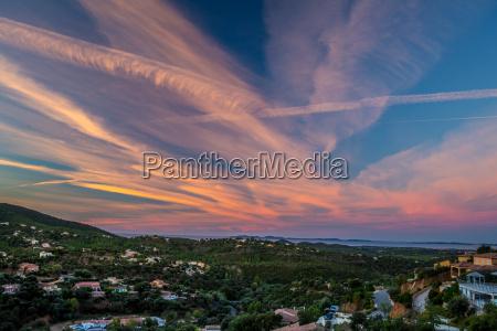 tramonto francia alba provenza contea paesaggio