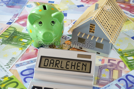 casa costruzione calcolatrice tascabile salvadanaio finanziamento