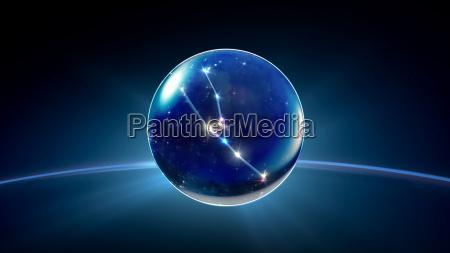 starry night star crystal ball of