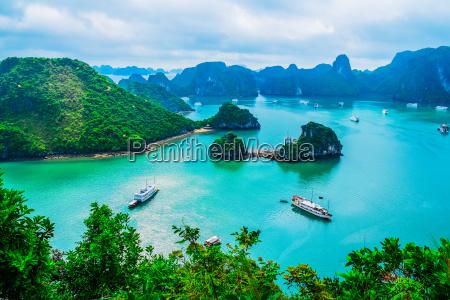 asia baia incrociare crociera navigare paesaggio