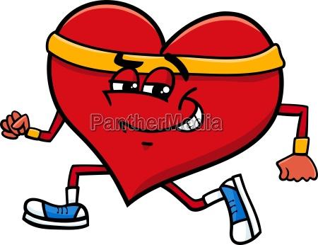 carattere sportivo cuore cartoon