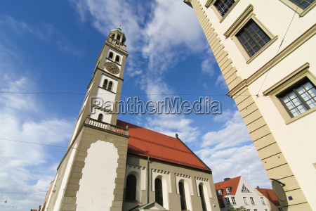old town center of augsburg with