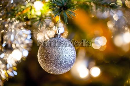 presentare dettaglio vacanza albero palla inverno