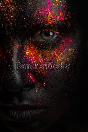 arte colore faccia nero dipingere verniciare