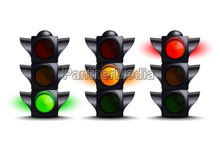 traffico verde iniziare avvertimento trasporto urbano