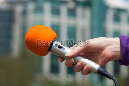 microphone media interview
