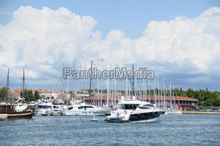 boats in novigrad istria croatia
