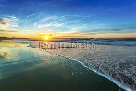 tramonto riva del mare spiaggia costa