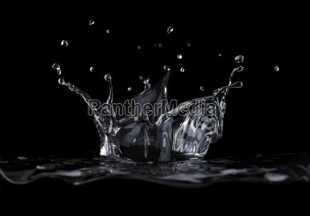 corona dacqua spruzzata visto da una