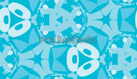 blu senza fine astratto decorativo geometrico