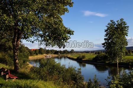 sguardo vista weser bassa sassonia fiume