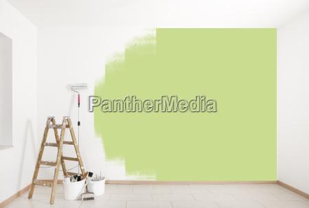 verde imbianchino rimuovere rullo di vernice