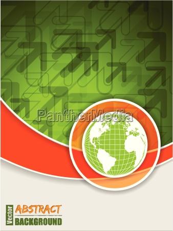 opuscolo arancione verde astratto con il