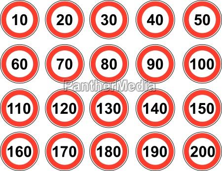 segnale limite strada alberata strada velocita