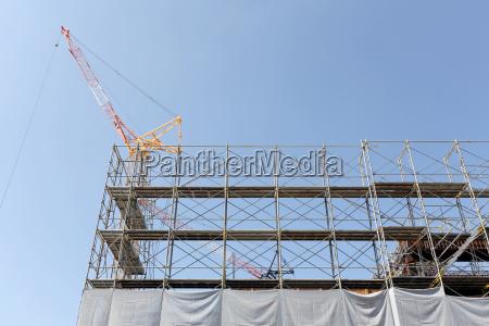 nuova costruzione di edifici recinzione del
