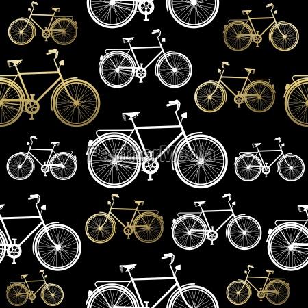concetto di oro della bicicletta senza