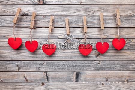hearts and key hanging on a