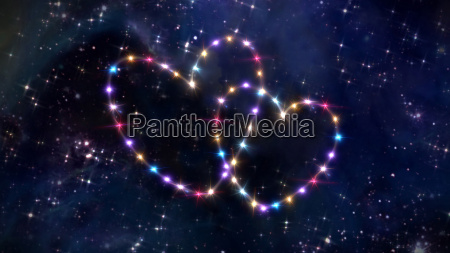 hearts of star in space