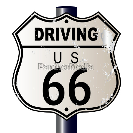driving route 66 sign
