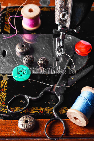 sewing machine and tools