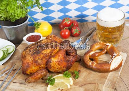 pollo con birra