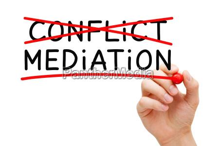 concetto di mediazione dei conflitti