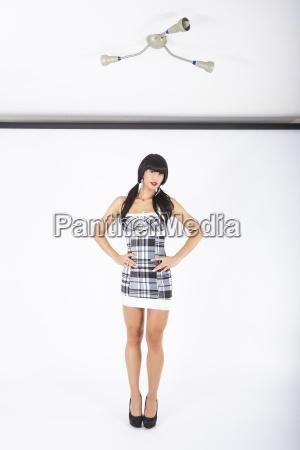 donna gambe mini modello ragazza ragazze