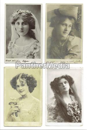 donne antico nostalgico modelli usato cartoline