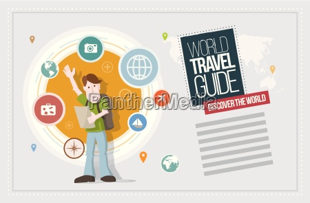 vector travel concept illustration icon and