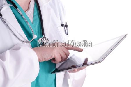 dottore medico donna mano scrivere salute