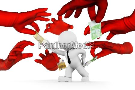 euro valuta denaro rubare portare via