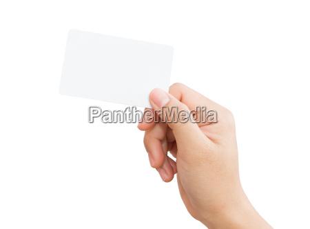 mano, femminile, tenendo, carta, vuota, percorso - 15995307