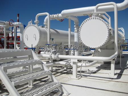 scambiatori di calore in una raffineria