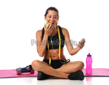 donna telefono salute sport dello sport