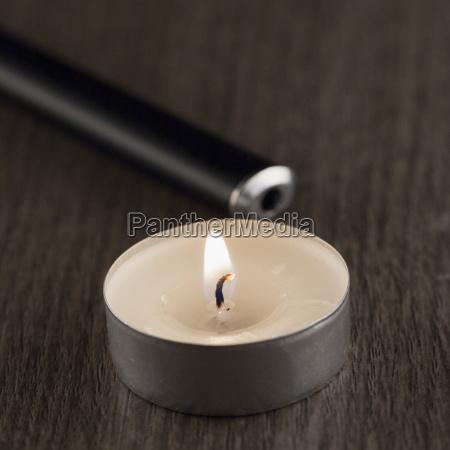 relax romantico candela arredamento festa fuoco