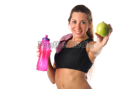 healthy, lifestyle., fitness, woman, drinking, water - 16204533