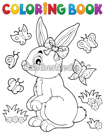 coloring book rabbit topic 2