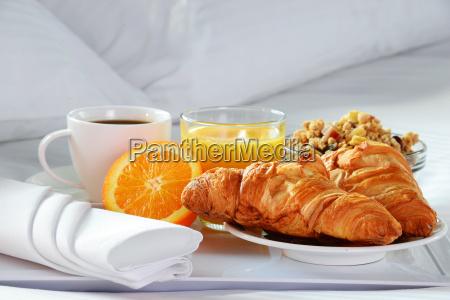 colazione a letto nella camera dellhotel