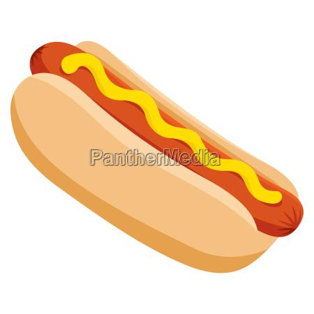 pane rilasciato caldo cane appartato salsiccia