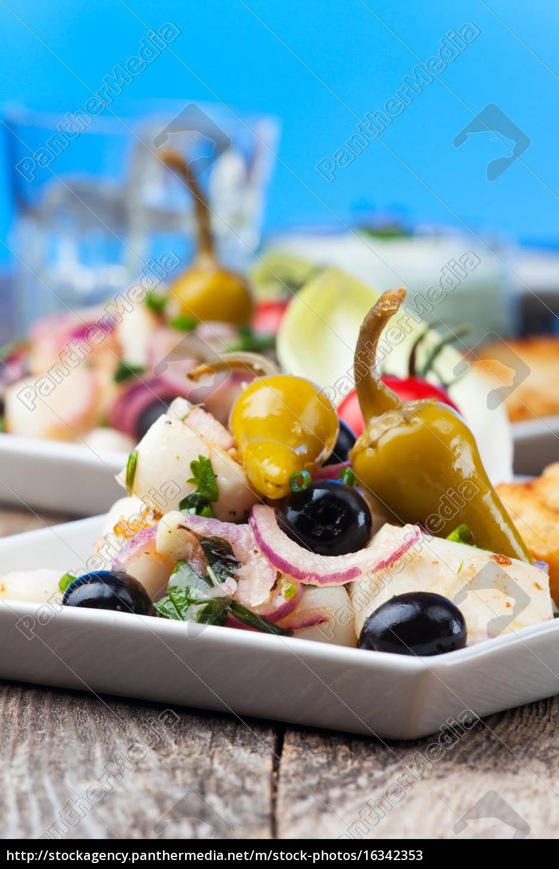 insalata, di, calamari, greci - 16342353