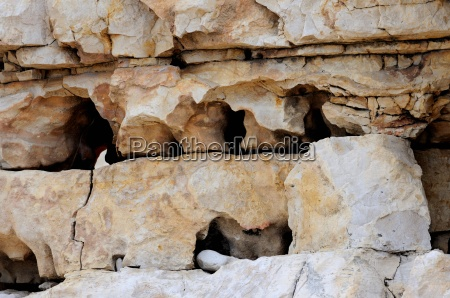 background stratified and fractured limestone eroded