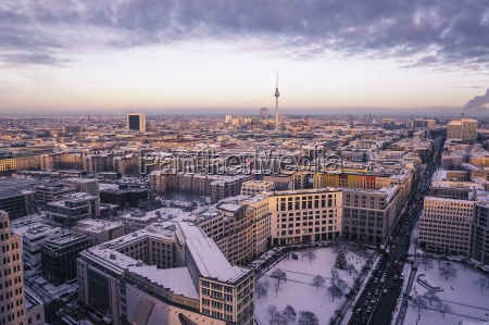 germania berlino cityview con leipziger strasse