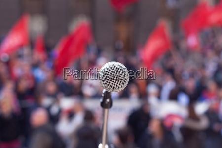 public demonstration protest