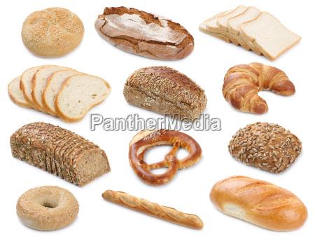 collezione pane pani prodotti da forno