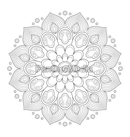 illustrazione di mandala decorativo per la