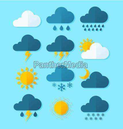 nuvola estate profetizzare meteo icona predire