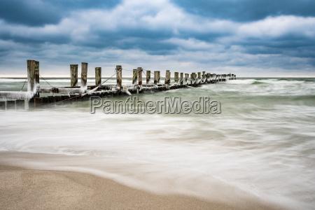 frangiflutti sulla costa baltica