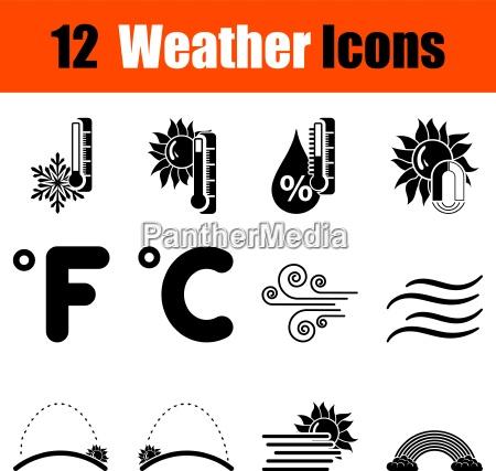 serie di dodici icone del tempo